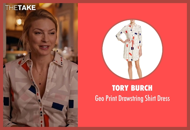 Tory Burch white dress from Mistresses seen with Kate Davis (Tabrett Bethell)