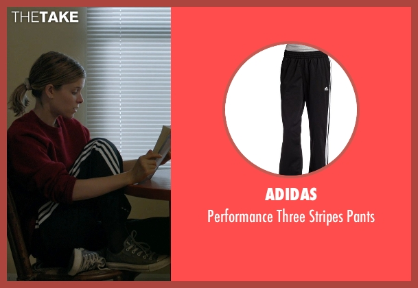 Adidas black pants from Captive seen with Kate Mara (Ashley Smith)