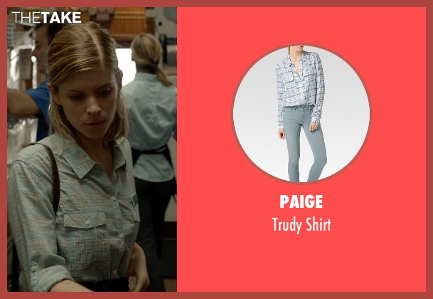 Paige blue shirt from Captive seen with Kate Mara (Ashley Smith)