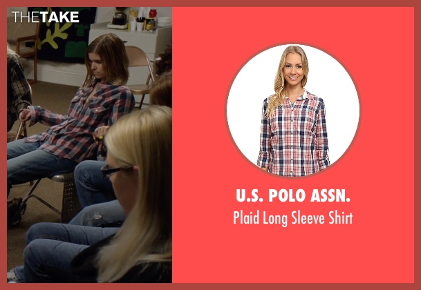 U.S. Polo Assn. pink shirt from Captive seen with Kate Mara (Ashley Smith)