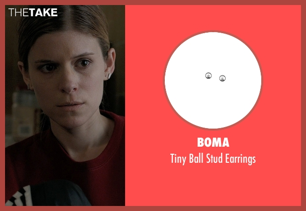 Boma silver earrings from Captive seen with Kate Mara (Ashley Smith)