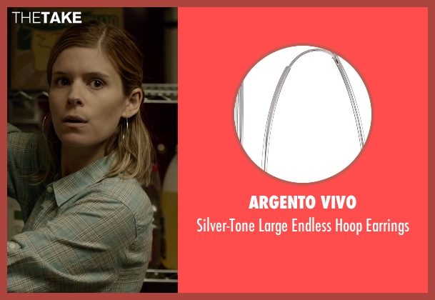 Argento Vivo silver earrings from Captive seen with Kate Mara (Ashley Smith)