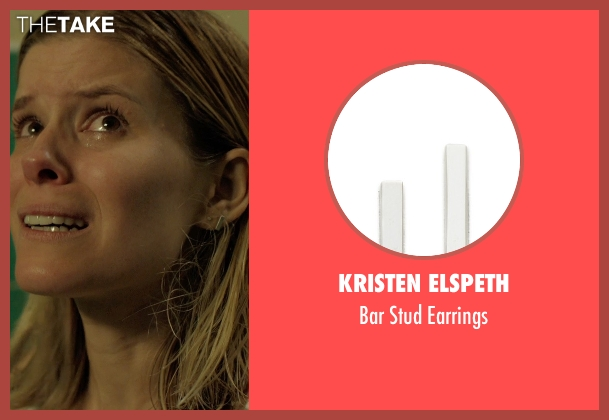 Kristen Elspeth silver earrings from Captive seen with Kate Mara (Ashley Smith)