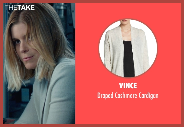 Vince beige cardigan from Fantastic Four seen with Kate Mara (Sue Storm / The Invisible Woman)