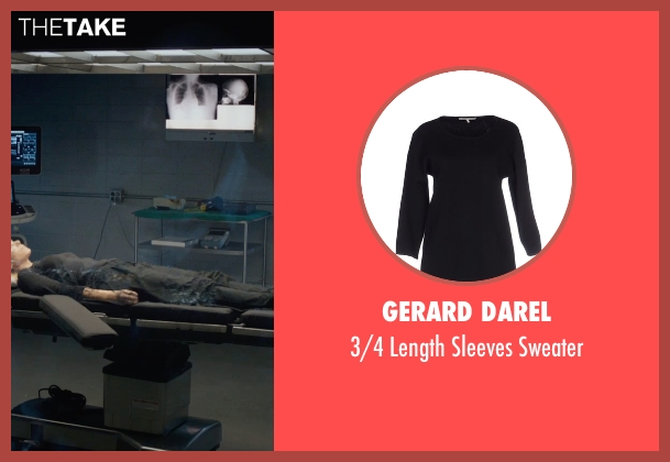 Gerard Darel black sweater from Fantastic Four seen with Kate Mara (Sue Storm / The Invisible Woman)