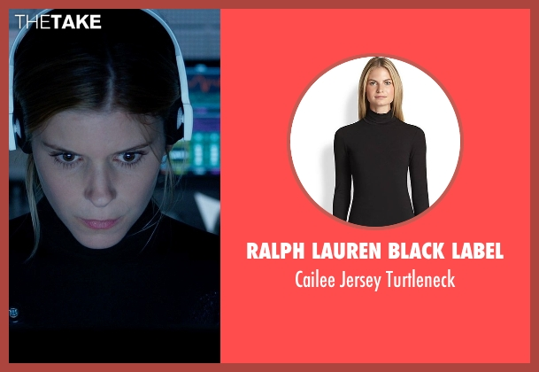 Ralph Lauren Black Label black turtleneck from Fantastic Four seen with Kate Mara (Sue Storm / The Invisible Woman)