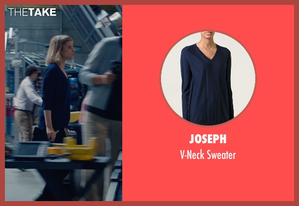 Joseph blue sweater from Fantastic Four seen with Kate Mara (Sue Storm / The Invisible Woman)