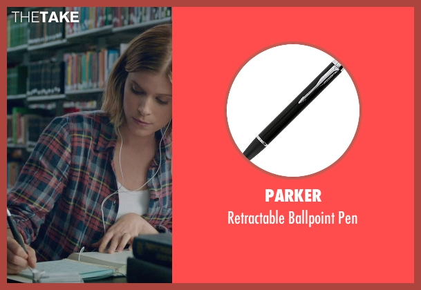 Parker pen from Fantastic Four seen with Kate Mara (Sue Storm / The Invisible Woman)