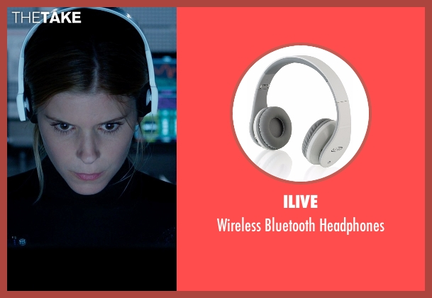 iLive white headphones from Fantastic Four seen with Kate Mara (Sue Storm / The Invisible Woman)