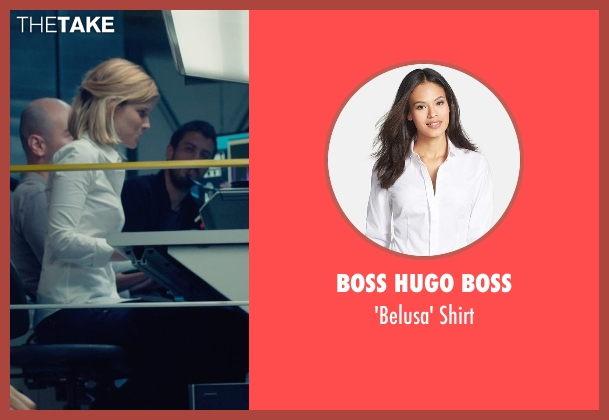 Boss Hugo Boss white shirt from Fantastic Four seen with Kate Mara (Sue Storm / The Invisible Woman)