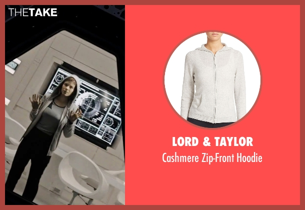 Lord & Taylor gray hoodie from The Martian seen with Kate Mara (Beth Johanssen)