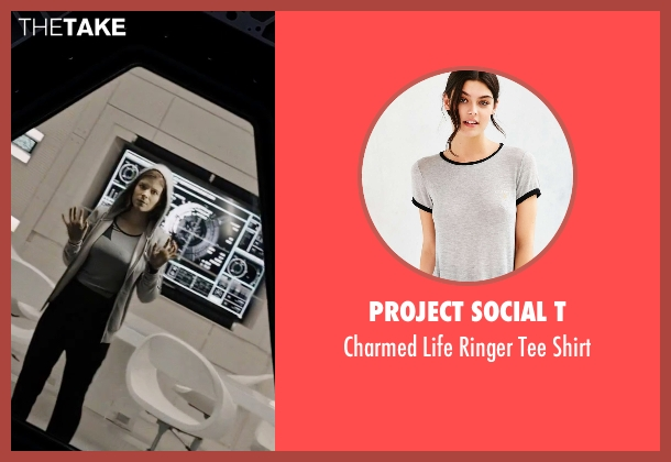 Project Social T gray shirt from The Martian seen with Kate Mara (Beth Johanssen)