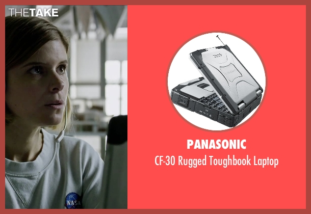 Panasonic laptop from The Martian seen with Kate Mara (Beth Johanssen)