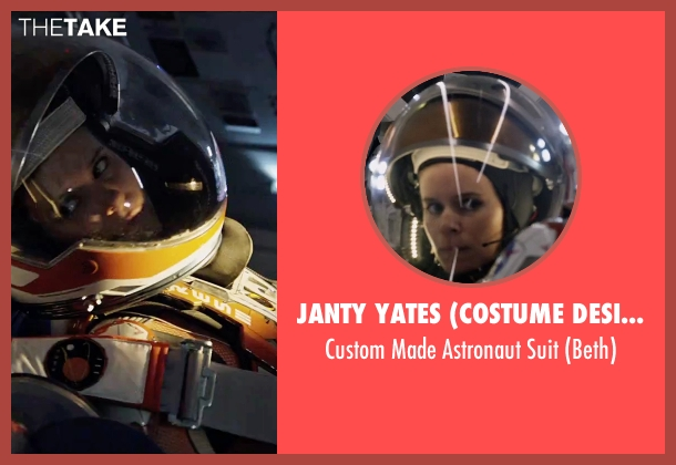 Janty Yates (Costume Designer) suit from The Martian seen with Kate Mara (Beth Johanssen)