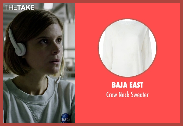 Baja East white sweater from The Martian seen with Kate Mara (Beth Johanssen)