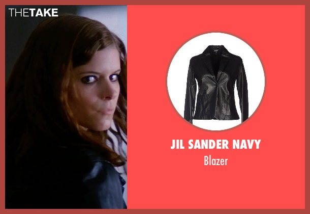 JIL SANDER NAVY black blazer from Transcendence seen with Kate Mara (Bree)