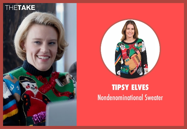 Tipsy Elves sweater from Office Christmas Party seen with Kate McKinnon (Mary)