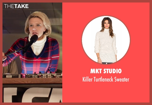 MKT Studio white sweater from Office Christmas Party seen with Kate McKinnon (Mary)
