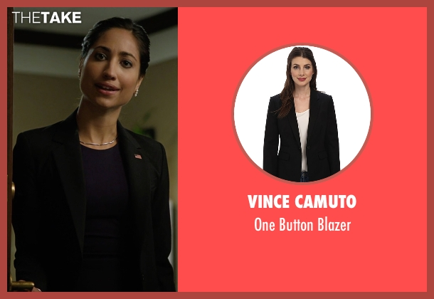 Vince Camuto black blazer from Billions seen with Kate Sacher (Condola Rashad)