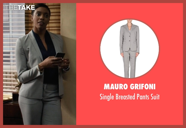 Mauro Grifoni gray suit from Billions seen with Kate Sacher (Condola Rashad)