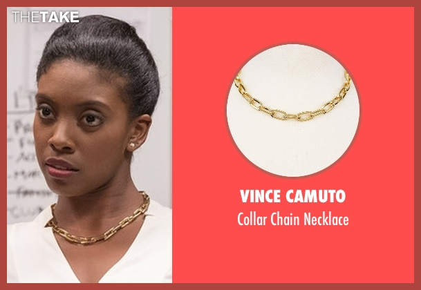 Vince Camuto white necklace from Billions seen with Kate Sacker (Condola Rashad)