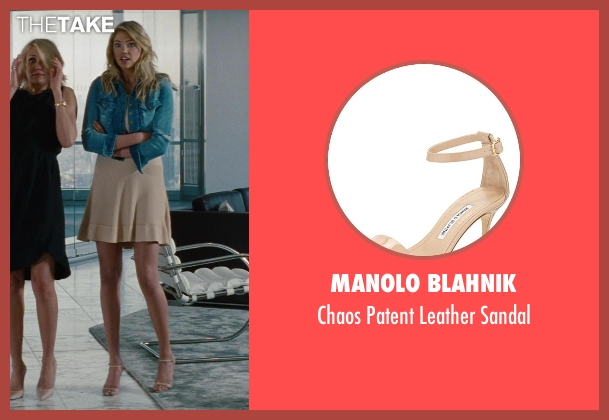 Manolo Blahnik beige sandal from The Other Woman seen with Kate Upton (Amber)