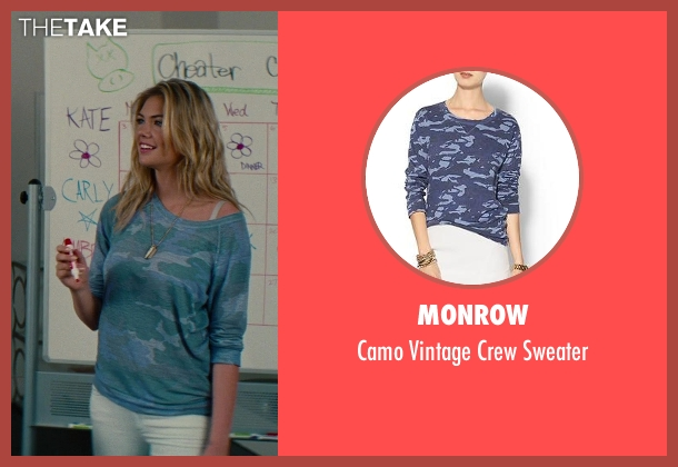 Monrow blue sweater from The Other Woman seen with Kate Upton (Amber)