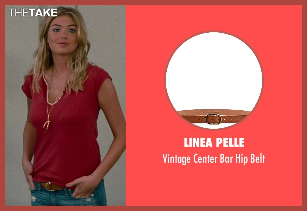 Linea Pelle brown belt from The Other Woman seen with Kate Upton (Amber)