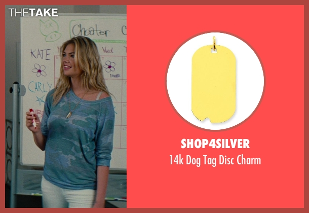 Shop4Silver gold charm from The Other Woman seen with Kate Upton (Amber)