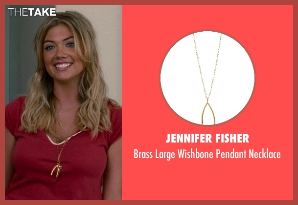 Jennifer Fisher gold necklace from The Other Woman seen with Kate Upton (Amber)