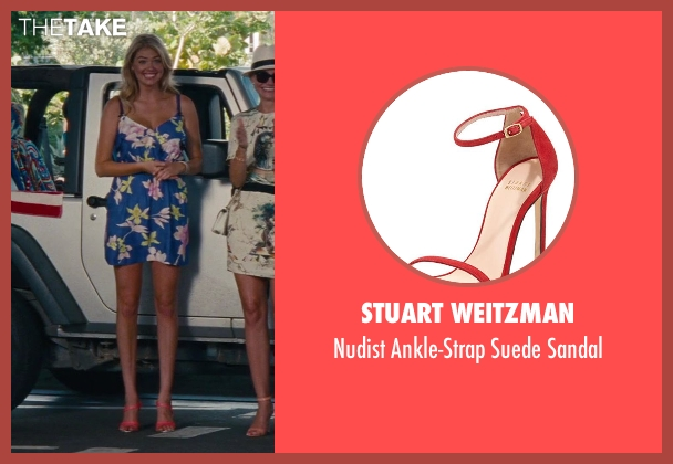 Stuart Weitzman red sandal from The Other Woman seen with Kate Upton (Amber)