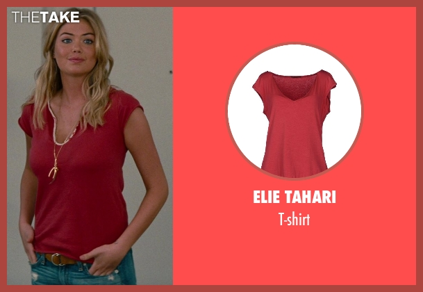 Elie Tahari red t-shirt from The Other Woman seen with Kate Upton (Amber)