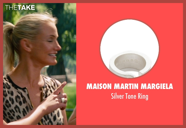 Maison Martin Margiela silver ring from The Other Woman seen with Kate Upton (Amber)