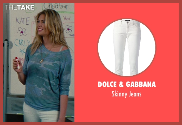 Dolce & Gabbana white jeans from The Other Woman seen with Kate Upton (Amber)