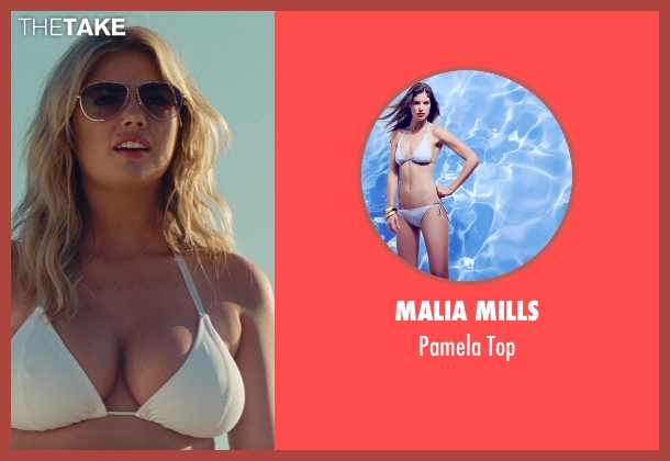 Malia Mills white top from The Other Woman seen with Kate Upton (Amber)