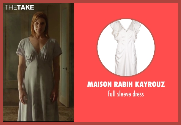 MAISON RABIH KAYROUZ white dress from Oculus seen with Katee Sackhoff (Marie Russell)
