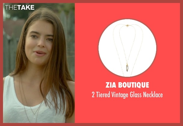 Zia Boutique gold necklace from Me and Earl and the Dying Girl seen with Katherine C. Hughes (Madison)