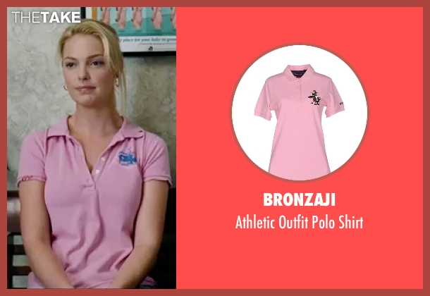Bronzaji pink shirt from Knocked Up seen with Katherine Heigl (Alison Scott)