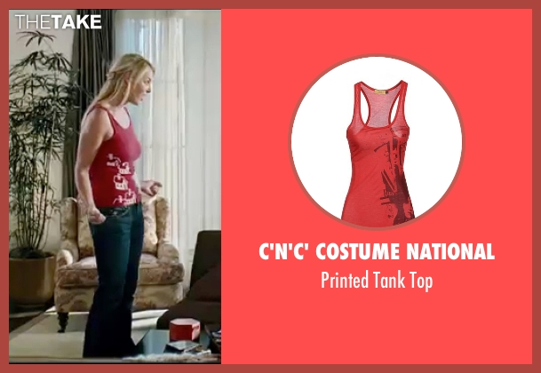 C'n'C' Costume National red top from Knocked Up seen with Katherine Heigl (Alison Scott)