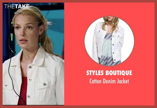Styles Boutique white jacket from Knocked Up seen with Katherine Heigl (Alison Scott)