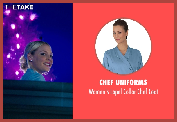 Chef Uniforms blue coat from New Year's Eve seen with Katherine Heigl (Laura)