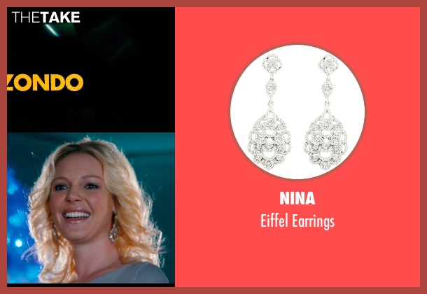 Nina silver earrings from New Year's Eve seen with Katherine Heigl (Laura)
