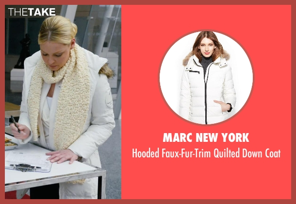 Marc New York white coat from New Year's Eve seen with Katherine Heigl (Laura)