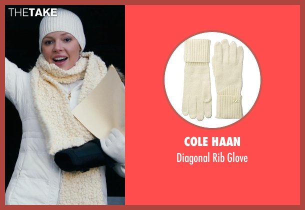 Cole Haan white glove from New Year's Eve seen with Katherine Heigl (Laura)
