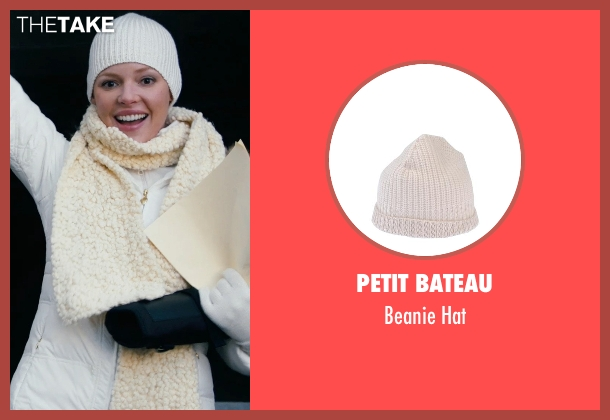 Petit Bateau white hat from New Year's Eve seen with Katherine Heigl (Laura)