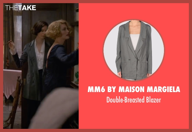 MM6 by Maison Margiela gray blazer from Fantastic Beasts and Where to Find Them seen with Katherine Waterston (Porpentina Goldstein)