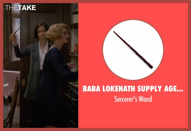 Baba Lokenath Supply Agency wand from Fantastic Beasts and Where to Find Them seen with Katherine Waterston (Porpentina Goldstein)