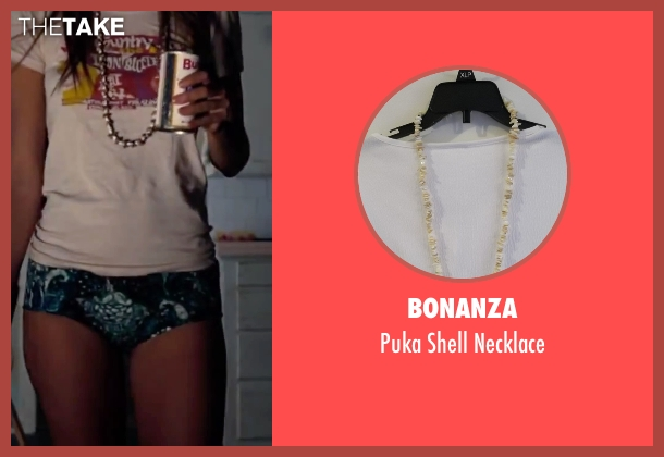 Bonanza white necklace from Inherent Vice seen with Katherine Waterston (Shasta Fay Hepworth)