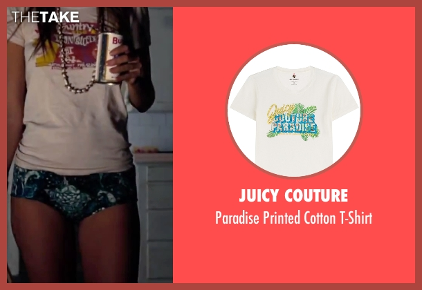 Juicy Couture white t-shirt from Inherent Vice seen with Katherine Waterston (Shasta Fay Hepworth)