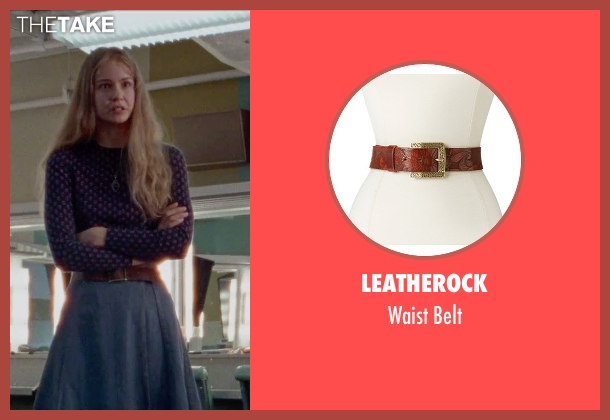 Leatherock brown belt from Steve Jobs seen with Katherine Waterston (Chrisann Brennan)